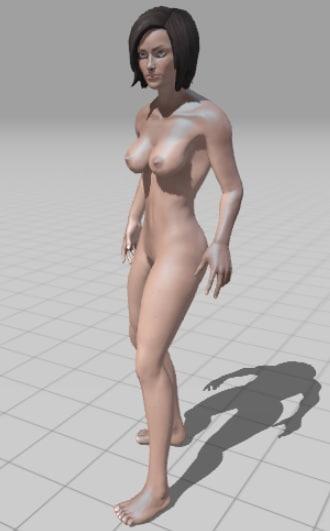 3d model of woman