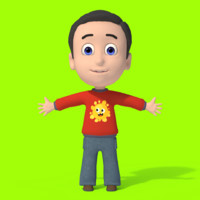 Cartoon Boy Character