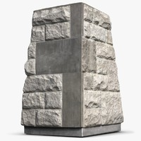 monument stand 3d max