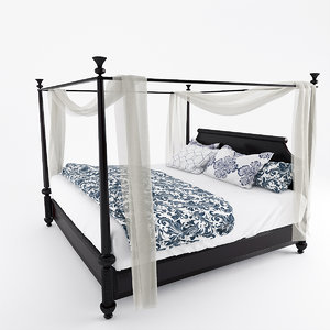 diamond head bed 3d model