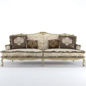 3d model bruno zampa clementine sofa