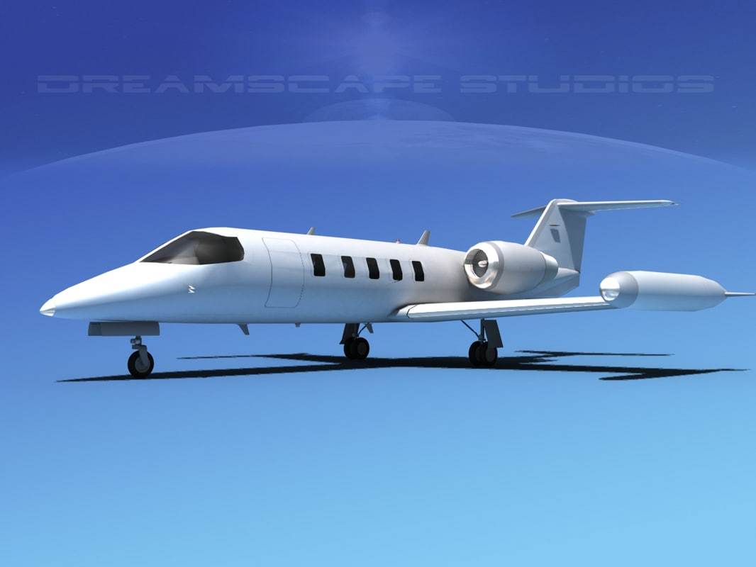 learjet 35 3d 3ds