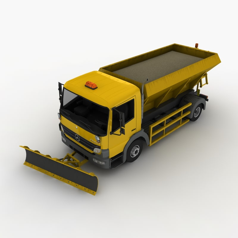 3d model mercedes-benz atego snowplow