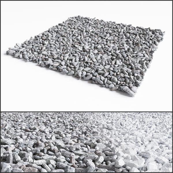 crushed stone 3d model