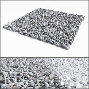 crushed stone 3d model