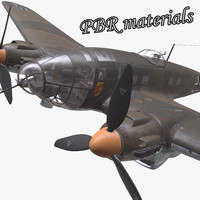 3d he-111 german bomber
