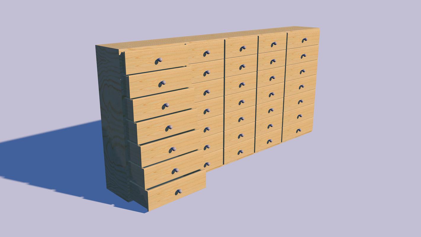 3d c4d chest drawers