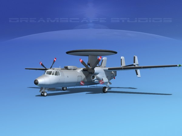 3d grumman e-2c hawkeye model