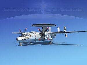 grumman e-2c hawkeye 3ds