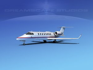 3d model of bombardier lear jet 45