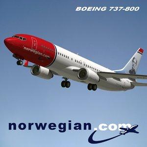 3d model boeing norwegian