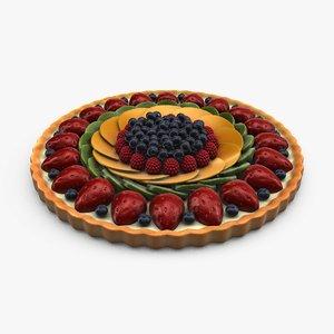 3d fruit tart model