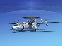 3d model grumman e-2c hawkeye