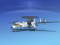 3d model grumman e-2c hawkeye