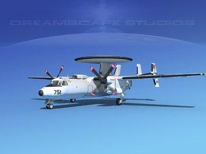 3d grumman e-2c hawkeye model