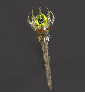 3d model wizard staff