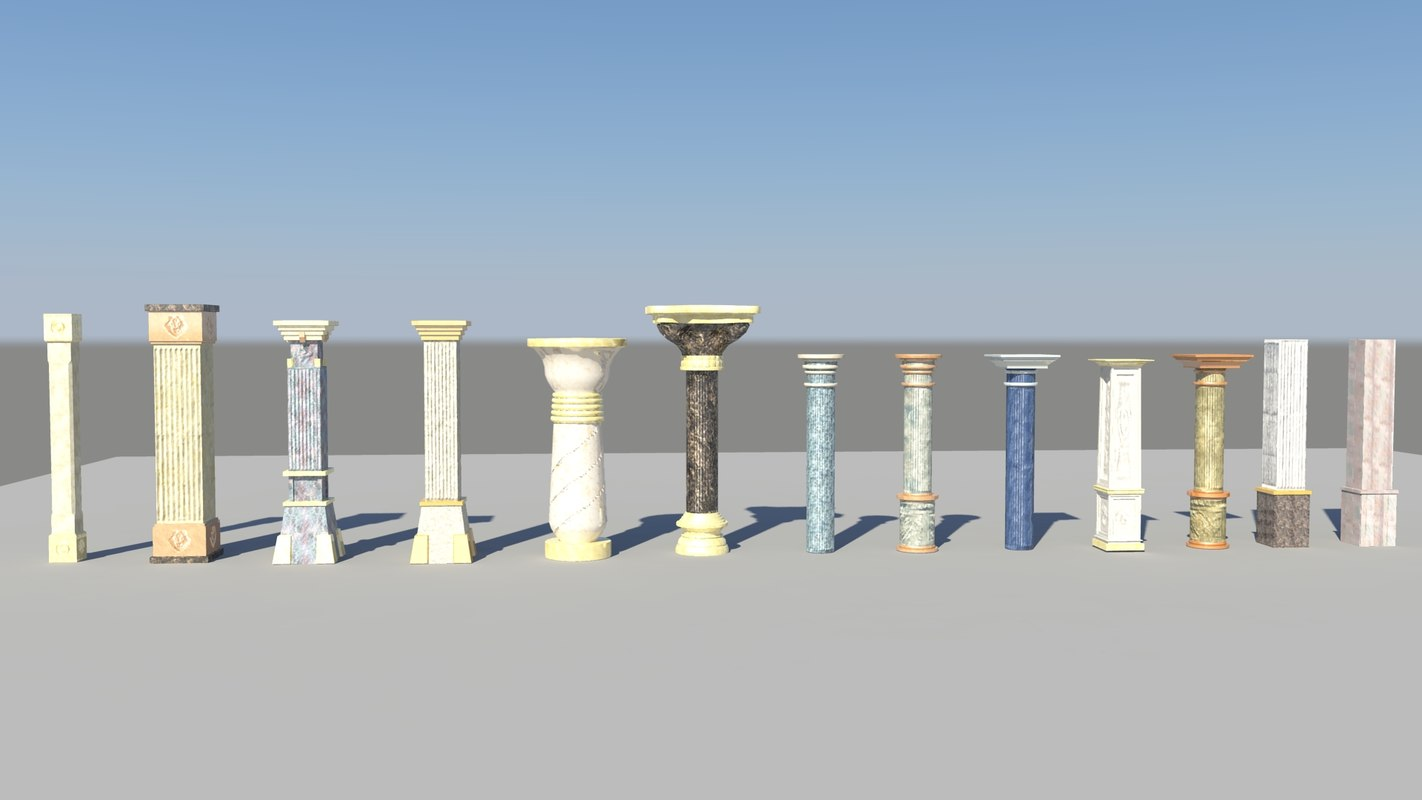 3d model pillar pack