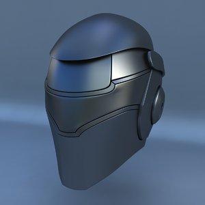 3d robot head l
