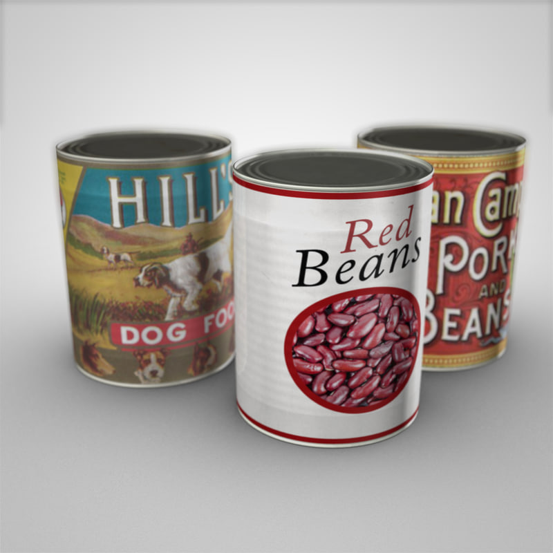 food assorted labels 3d model