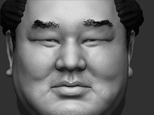 3d model mongolian sumo
