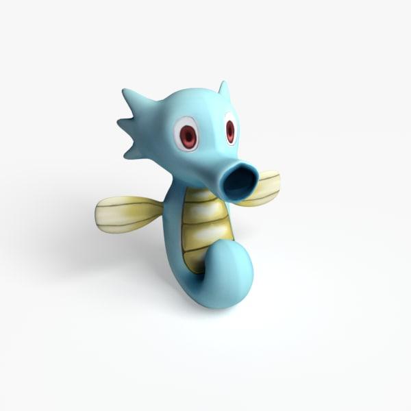 horsea pokemon 3d model