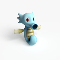 horsea pokemon 3d model
