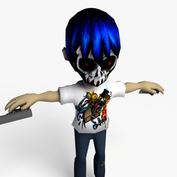cartoon thug 3d model