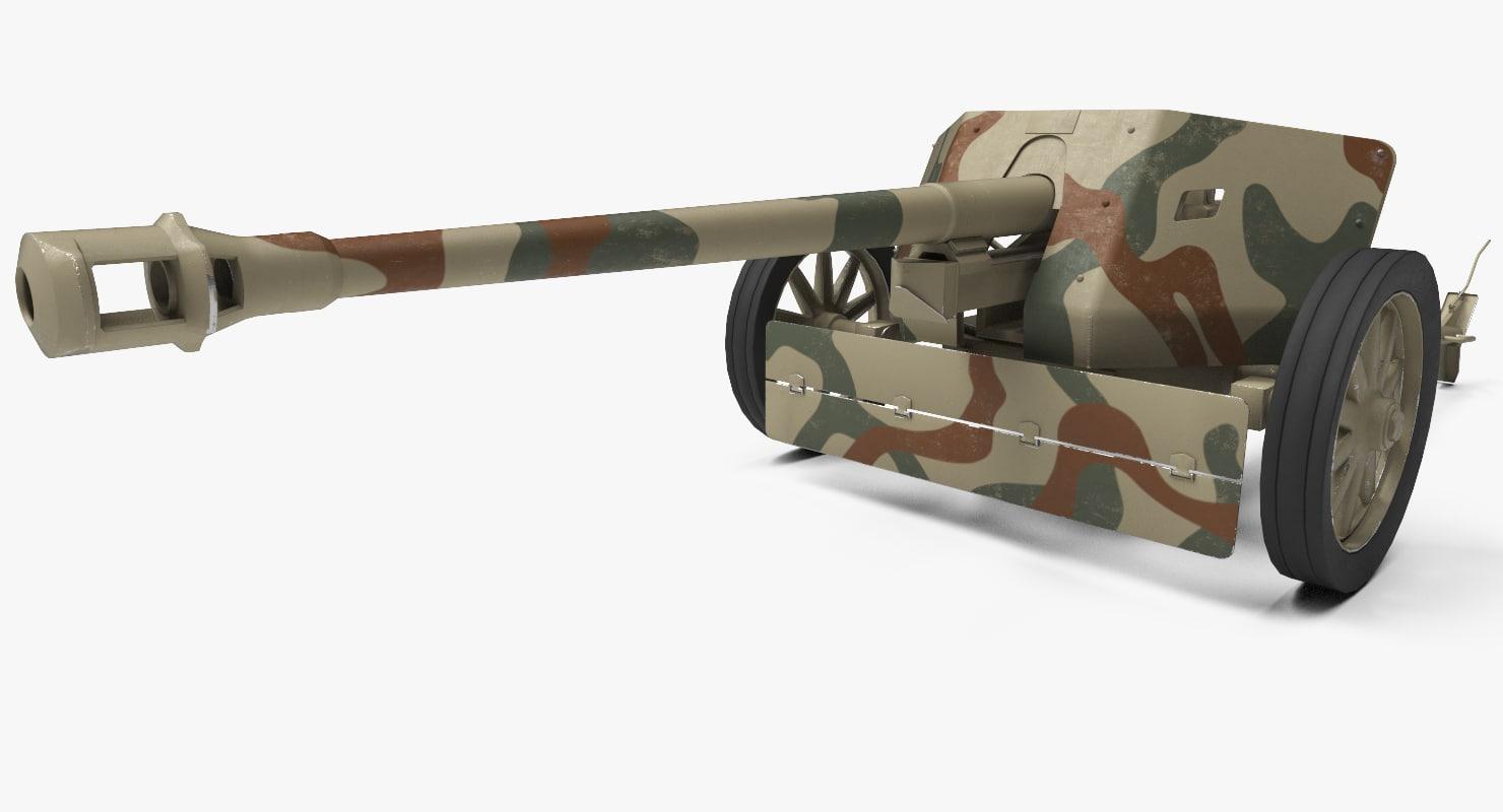 3d german 7 5 cm model