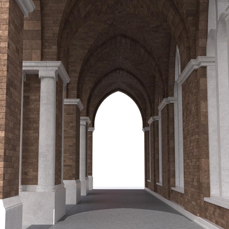 3d groin vault greco roman model
