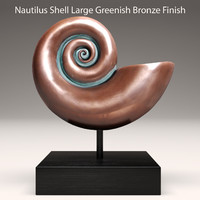 3d nautical nautilus shell