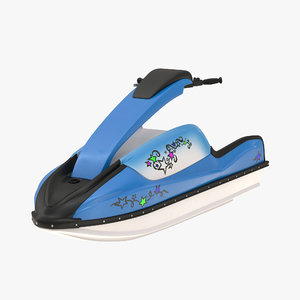 sport water scooter rigged 3d model