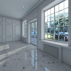3d model base classic interior