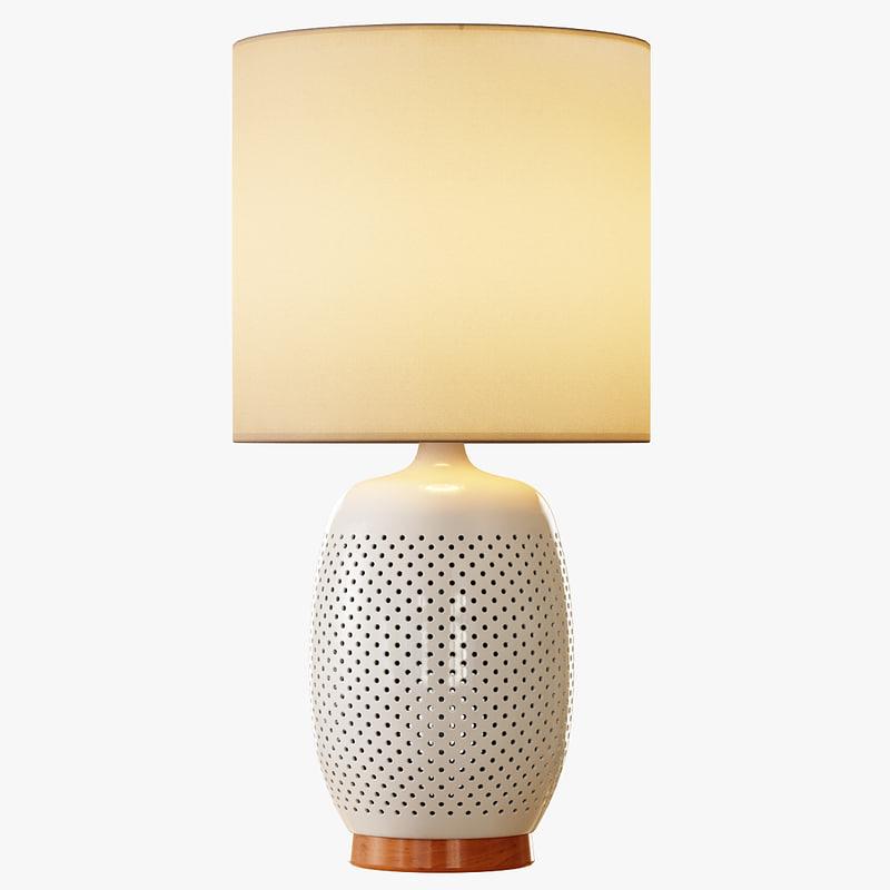 3d pierced ceramic table lamp model