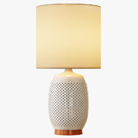 3d model pierced ceramic table lamp