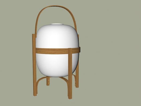 lantern bamboo 3d model