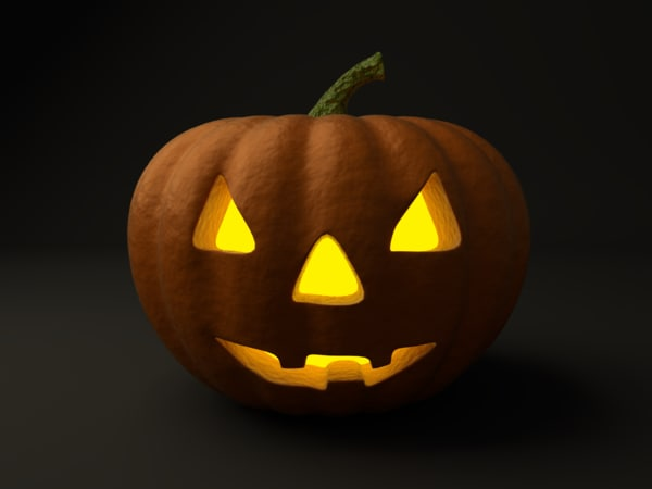 obj halloween pumpkin