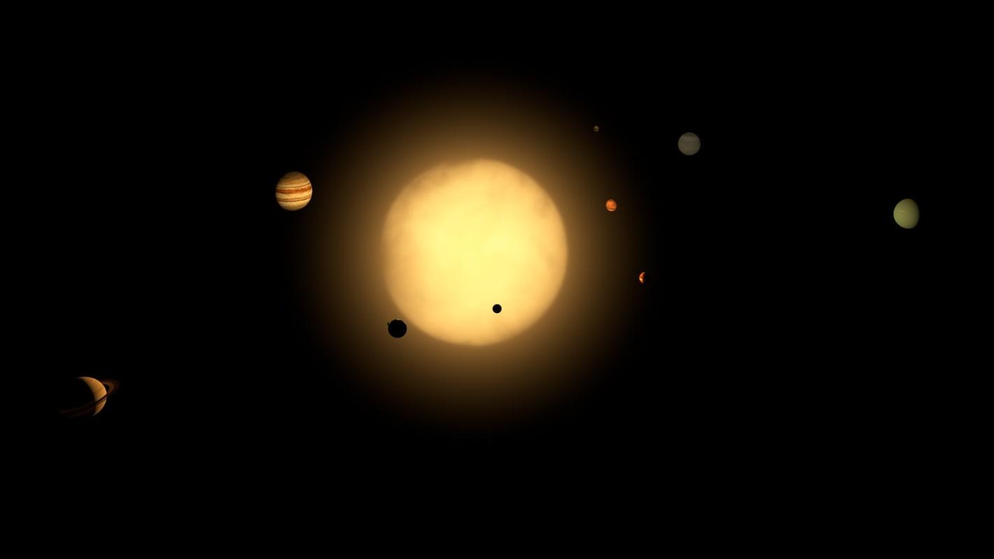 3d model of planets solar
