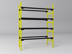 pallet racking 3d model