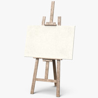 easel canvas picture clean 3d model