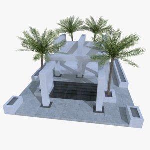 3d original design modern pool
