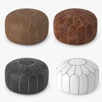 3d model moroccan pouf
