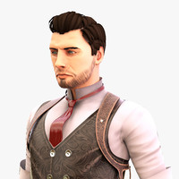 fbx cowboy character blender