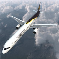 boeing 757-300 ups airlines 3d model