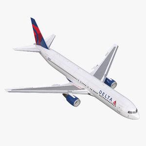 3d boeing 767-300 delta air lines model