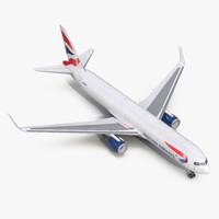 3d boeing 767-300f british airways model
