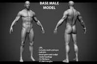 3ds male base