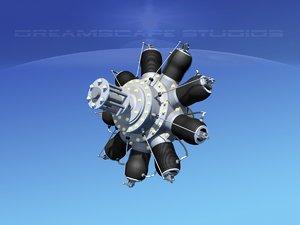 3d gnome monosaupape rotary engine