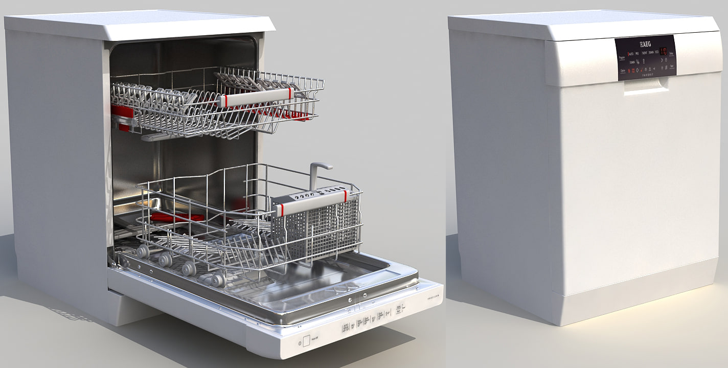 3d aeg dishwasher model