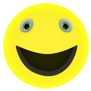 smiley rigged facial 3d model