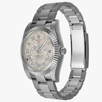 Rolex Sky Dweller White Gold Ivory Dial